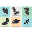 Footwear Icons vector image vector image