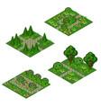 garden isometric asset for design landscape in vector image vector image