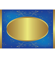 gold-blue card with stars vector image vector image