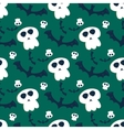 Halloween seamless pattern ghost scary vector image vector image