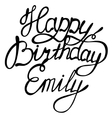 Happy birthday Emily vector image vector image