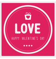 Happy valentine s day card3 vector image vector image