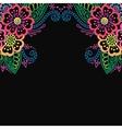 Henna flower ornament frame vector image vector image