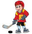 hockey theme image 1 vector image