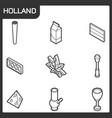 holland outline isometric icons vector image vector image