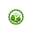 icon of green trees for best landscape vector image vector image
