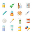 icons set medications drugs and pills vector image vector image