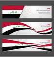 iraq independence day abstract background design vector image