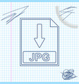 jpg file document icon download jpg button line vector image vector image