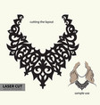 laser cutting necklace vector image vector image