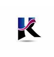 Letter K logo design vector image vector image