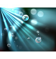 light rays bubble background vector image vector image