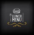 Lunch menu logo and badge design vector image