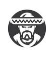 mexican man in sombrero silhouette sign vector image vector image