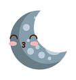 natural satellite moon comic character vector image vector image