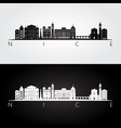 nice skyline and landmarks silhouette vector image vector image