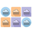 outlined icon of foggy weather with parallel and vector image vector image