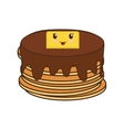 pancakes breakfast food menu icon vector image vector image