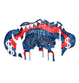 paper cut banner for independence day july 4 usa vector image vector image