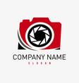 photographer logo vector image vector image