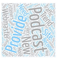 Podcast Profit Or Perish text background wordcloud vector image vector image