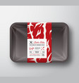 premium quality pork ribs container mock up vector image