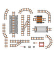 railroad platform and wagon vector image vector image