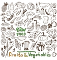 raw food - doodles collection vector image