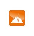 restaurant icon logo design template vector image