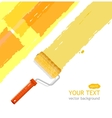 roller brush vector image vector image