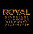 royal golden premium text effect in 3d style