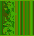 seamless vertical lines pattern green vector image vector image