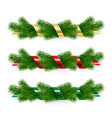 set christmas garlands vector image vector image