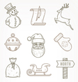 Set of Christmas signs and symbols vector image