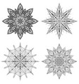 set of outline of snowflakes vector image vector image