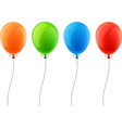 Set of realistic celebration balloons vector image