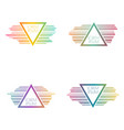 set triangular banners vector image vector image