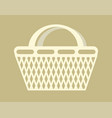 shopping bag basket container carry products item vector image