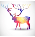 Silhouette a deer of geometric shapes vector image vector image