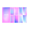 soft gradient background in hologram colors vector image vector image