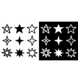 star sparkles sign symbol silhouette shape icon vector image vector image