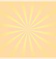 sun rays background orange yellow radiate vector image