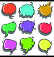 text balloon colorful vector image