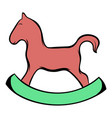 wooden horse icon cartoon vector image