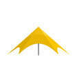 yellow event tent icon flat style vector image vector image