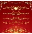 Golden Ornamental Design Elements Graphics vector image