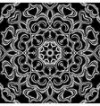 monochrome vintage oriental circle background vector image