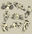 Motorcycle High Speed Action vector image