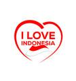 i love indonesia vector image
