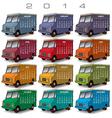2014 Creative Truck Calendar vector image